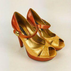 Chinese Laundry Bentley Heel Sandals Ombre Mustard
